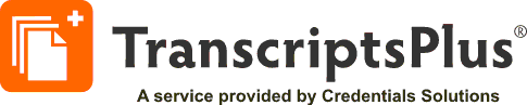 Transcripts Plus, a service procided by Credentials Solutions